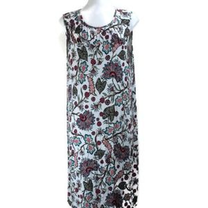 J. Jill Sleeveless Floral Stretch Midi Dress